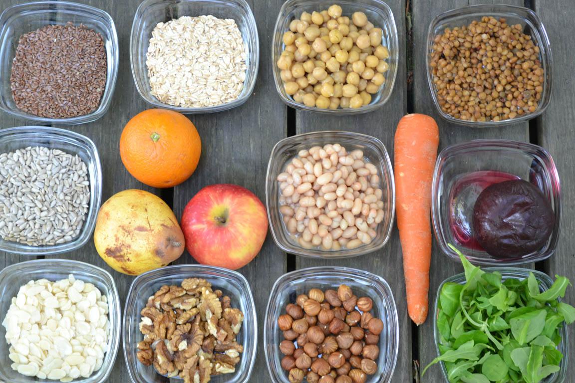 importancia de incluir en la dieta vegetales frutas y frutos secos